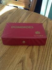 PAVILION DOMINOES GAME WITH RED CASE - 1992 - 55 PIECES
