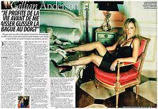 Clipping press clipping 2008 (2 pages) gillian anderson x-files