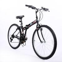 Bike Folding 26'' Bicycle for Men Foldable Shimano Commuter Bike 21 Speed Bike