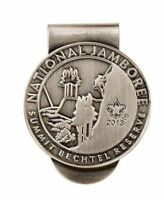BOY SCOUT 2013 SILVER PLATED NATIONAL JAMBOREE SUMMIT MONEY CLIP WORLD JAM SITE