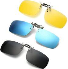 3 PACK, Clip on Flip up Polarized Lens For Prescription Glasses, UV Protection S