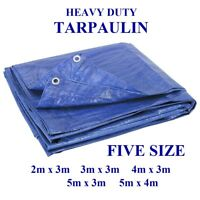 TARPAULIN Heavy Duty Waterproof Strong Cover Ground Sheet Camping Tarp 6 Size