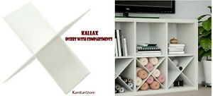 IKEA KALLAX Shelf Unit Insert with Compartments White 904.956.95 New