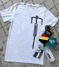 LOT OF 6 Cycling Workout Shirt GU Nutrition Audi Yeti Water Bottle Volar Socks