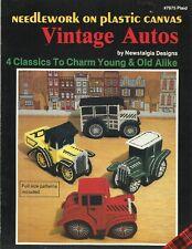 Vintage Autos Plastic Canvas Instruction Patterns NEW Plaid #7675 Antique Cars