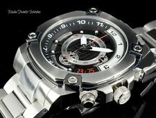 50MM Invicta Reserve Men's Swiss Quartz Chronograph All Silver Bracelet Watch