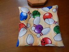 "Bowling Ball Cup/Holder - ""BOWL BALLS & PINS"" Pattern Handmade"