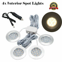 4x 12V Interior LED Spot Light Warm White for RV Car Camper Caravan Boat NEW
