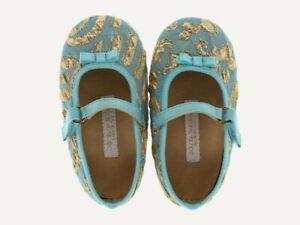 $215 NWT Dolce & Gabbana Brocade Ballerina, size US 5 Toddler, color Blue, SOLD