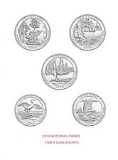 2018 NATIONAL PARK QUARTERS COMPLETE P, D & S SET (15 COINS) ****PRE-SALE****