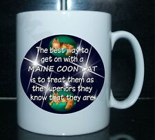 THE BEST WAY TO GET ON WITH A MAINE COON CAT - Novelty Mug & Coaster Gift Set
