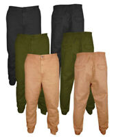 Mens New Cuffed Chinos Jeans Slim Fit Causal Jogger Pants Trousers All Sizes