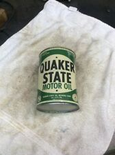 Vintage Original Quaker State Motor Oil Can 1 Quart Metal