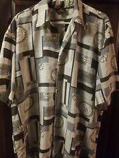 Puchini Horses Silver Button Button Up Shirt xLarge rare/Mens