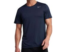 Nike New Mens Size Medium Navy Blue Gray Dri Fit Training Tee T Shirt ar6029-451