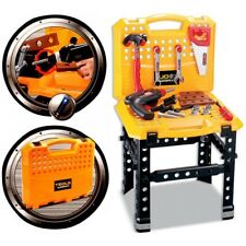 Kids Electric Drill Tool kit Work Bench Play Toy Work Station DIY Construction
