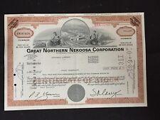 Vintage Stock Certificate Great Northern Nekoosa Corporation 1979