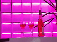 LED Glasbaustein, 5'er Set LED beleuchteter Glasbaustein