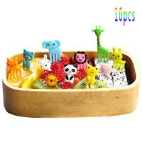 10pcs Bento Cute Animal Food Fruit Picks Forks Lunch Box Accessory Decor Tools