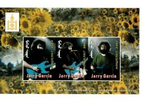MONGOLIA 1999 - JERRY GARCIA - Set of 4 Imperf Sheets - MNH