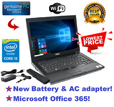 DELL LATITUDE LAPTOP WINDOWS 10 WIN DVD+RW INTEL Core i5 2.4GHz 4GB 250GB HD