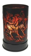Electric Oil Warmer Wax Melt Orange Wild Horses Design Touch Control
