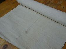 A Homespun Linen Hemp/Flax Yardage 6.5 Yards x 19''' Plain  # 8329