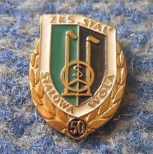 STAL STALOWA WOLA 50 ANNIVERSARY/1938-1988/ POLAND FOOTBALL BASKETBALL PIN BADGE