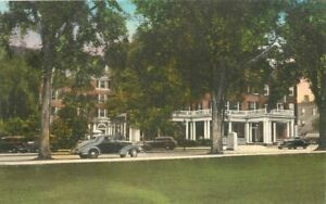 Albertype Dartmouth College Hanover Inn 1930s Postcard hand colored 21-1910