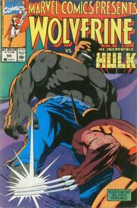 Marvel Comics Presents #55 Comic Book Marvel 1990 Wolverine VS. Hulk NM