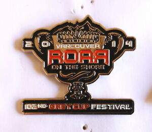 """2014 - 102nd Vancouver Grey Cup Festival B.C. Lions CFL """"Roar on the Shore"""" pin"""