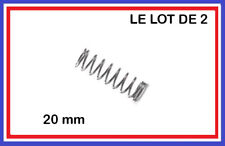 Le lot de 2 Ressorts de compression acier Longueur 20mm / diamètre 7mm