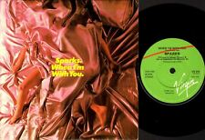 """SPARKS when i'm with you (uk 1980) 7"""" PS EX/EX VS 319 synth pop disco"""