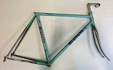 Marco bici Bianchi acero made in Italy road bicicleta frame Columbus vintage