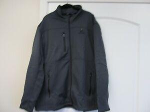 Taco Bell Live Mas  2XL Grey Port Authority Jacket Coat Polyester Fleece Lined
