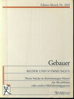Gebauer ~ 9 Stücke in dreistimmigen Sätzen für Blockflöten und andere Melodieins