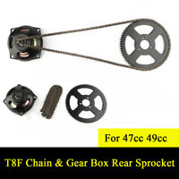 Mini Pocket Bike 47cc 49cc Drive System T8F Chain & 6T Gear Box Rear Sprocket