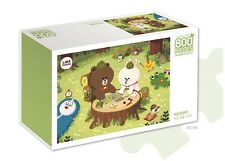 Line Friends Puzzle Hobby 800 pcs Intermediate - Camping (Brown, Cony)