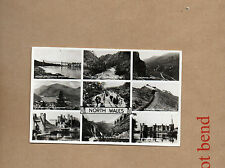 North Wales multiview  real photo card unposted Valentine and Co art