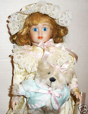 """1998 12"""" Victorian Keleigh Porcelain Doll by Classic Creations Blonde Hair"""