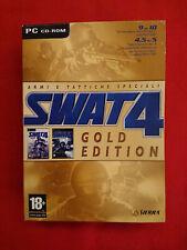 PC COMPUTER SWAT 4 GOLD + THE STETCHKOV SYNDICATE ITA BIG BOX CARDBOARD