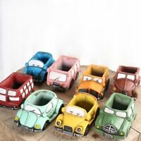 Silicone Cement Mold For Handmade Flowerpot Cartoon Cars Shape Concrete Mould