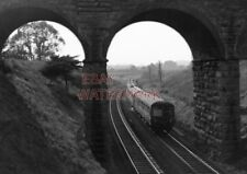 PHOTO  DMU 2 X 3 CAR INTER CITY SETS FRAMED BY A PORTAL OF THE FORMER BARRY RAIL