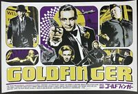 Goldfinger Purple Variant James Rheem Davis JRD Sean Connery Bond Screenprint