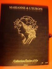 France - Coffret Marianne d 'Or 15 blocs luxe dans leur coffret cote 520€