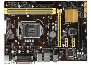 ASUS H81M-P-S1 Intel (H81) Motherboard  LGA 1150 Socket(H3) with backplate