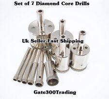 Diamond Hole Saw - set of 7 drills,4-14mm dia, porcelain,glass drills-uk