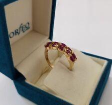 585 Gold Rubin Ring Gelbgold Rubine 1,0ct