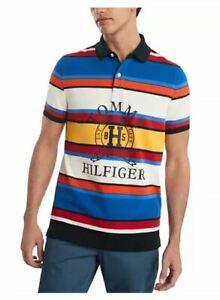 Tommy Hilfiger Men's Slim Fit Spruce Stripe Polo Shirt 2XL, New