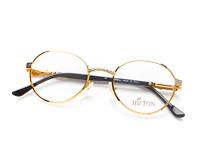 Vintage Hilton MONACO 303 1 24Kt Gold Round Eyeglasses Eyewear Optical Lunettes